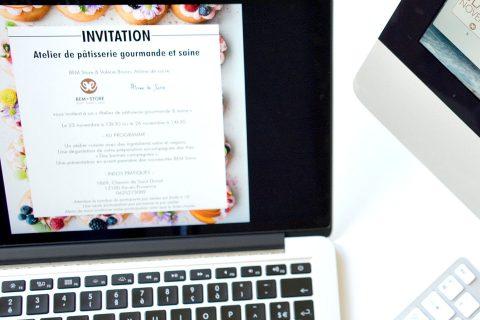 invitation atelier vegan